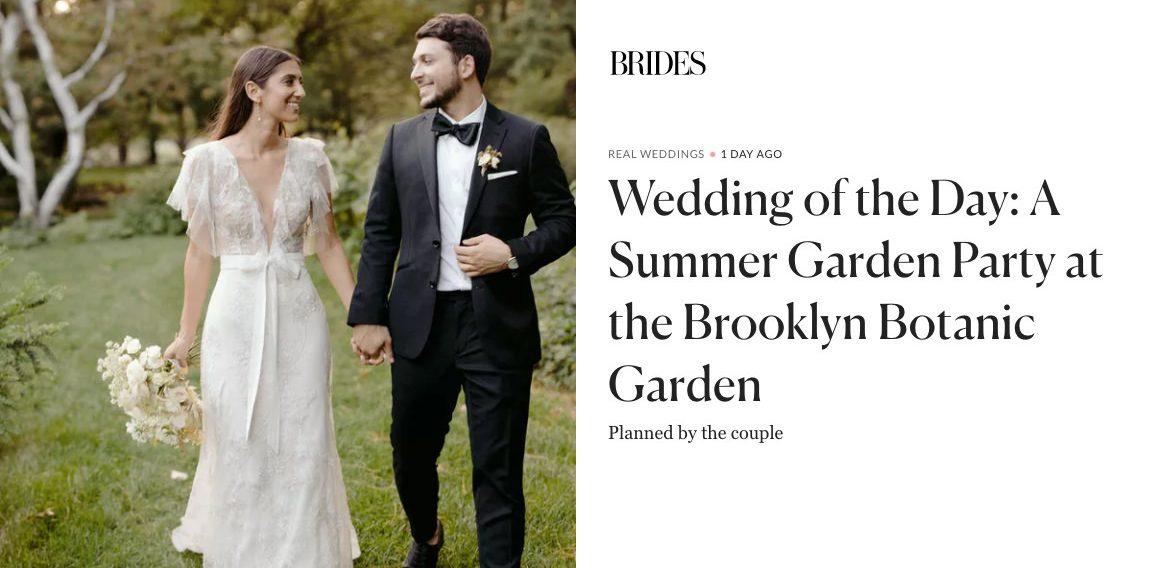 Brides Magazine Online Wedding Feature of Brooklyn Botanic Garden Wedding