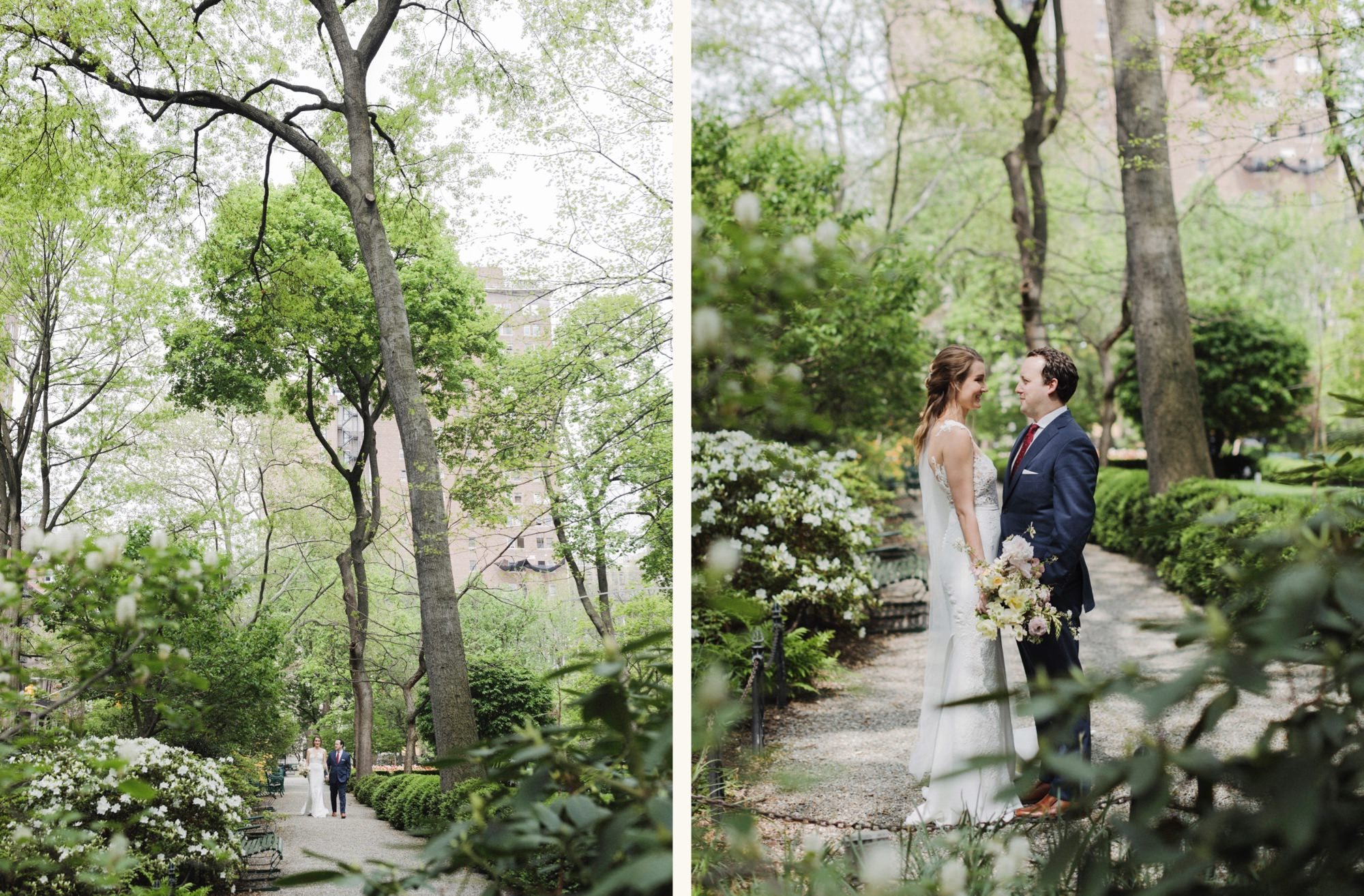Wedding portraits inside Gramercy Park