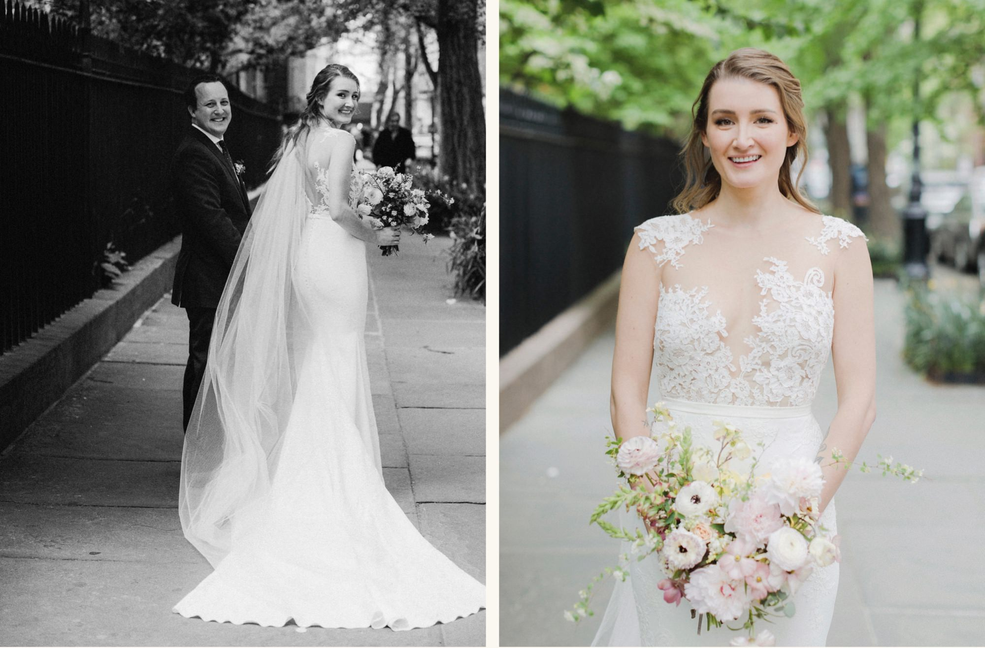 Bride portraits at Gramercy Park