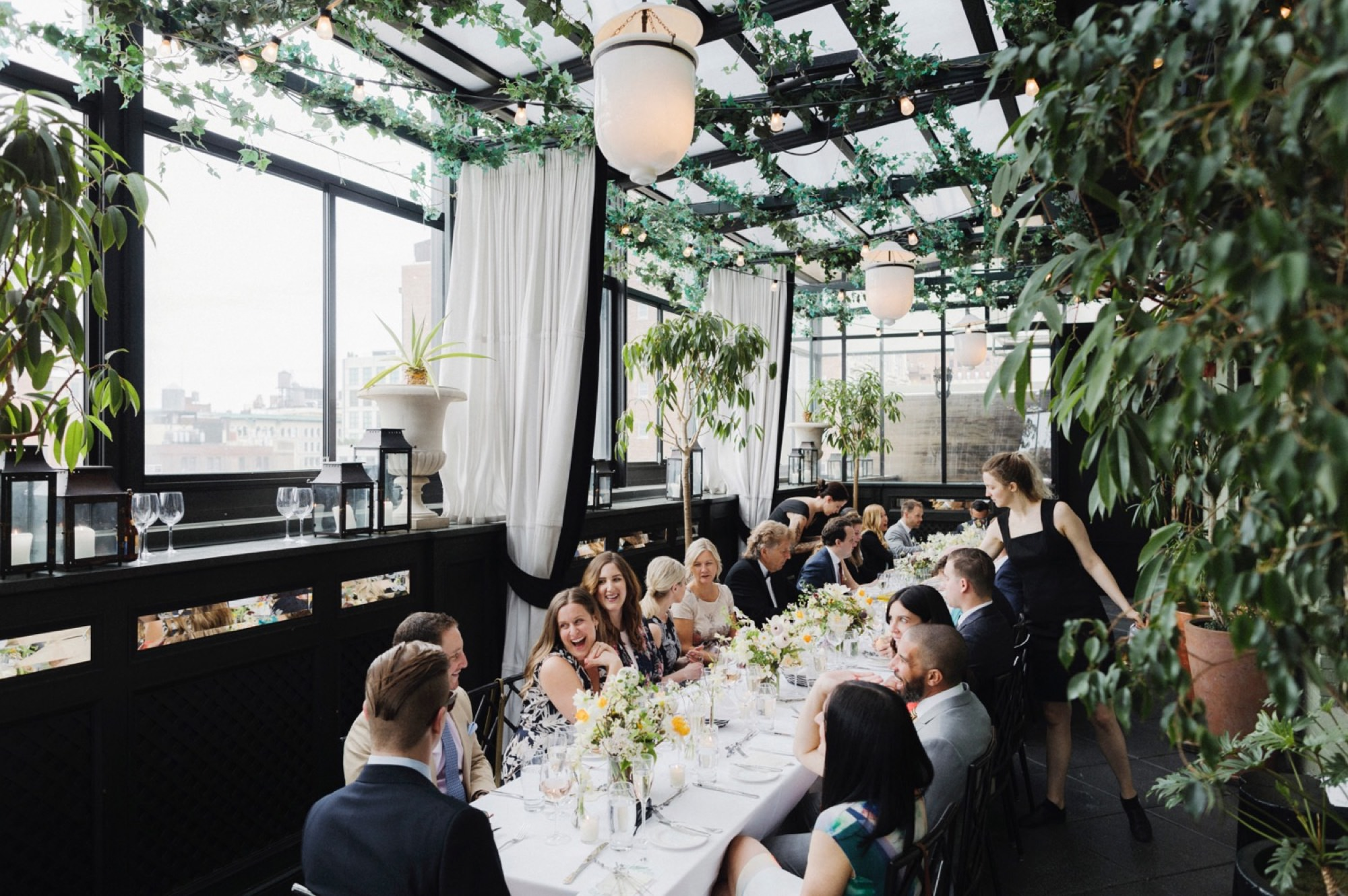 brunch wedding reception at Gramercy Terrace Rooftop