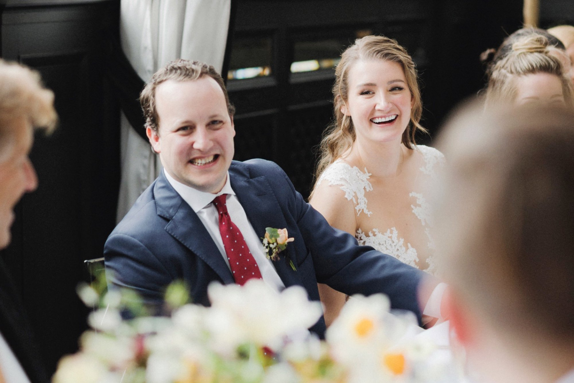 bride and groom laughing at Gramercy Park Hotel Wedding