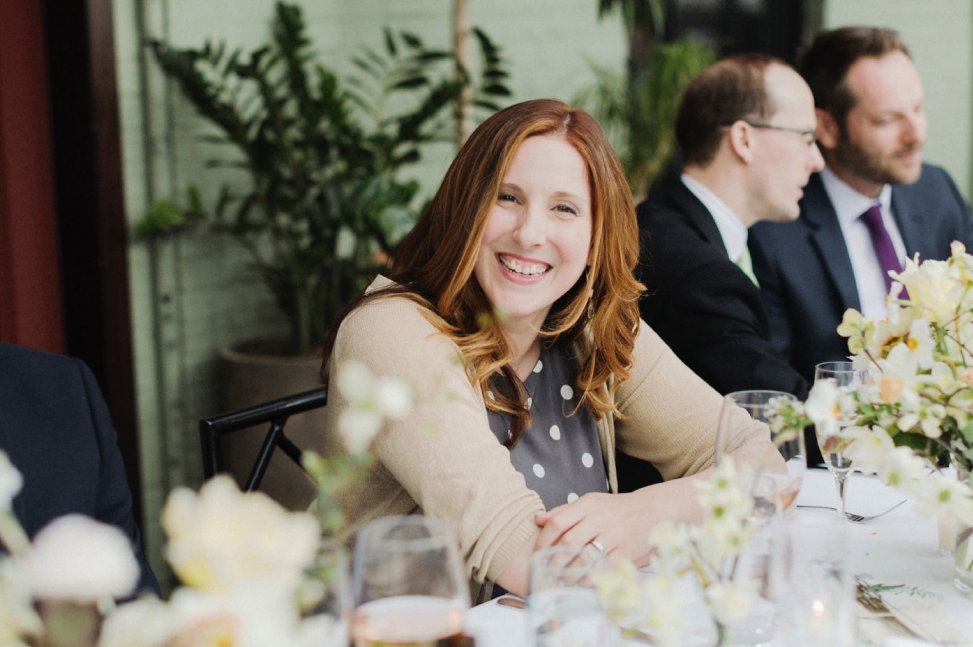 guest smiling at Gramercy Park Hotel Wedding