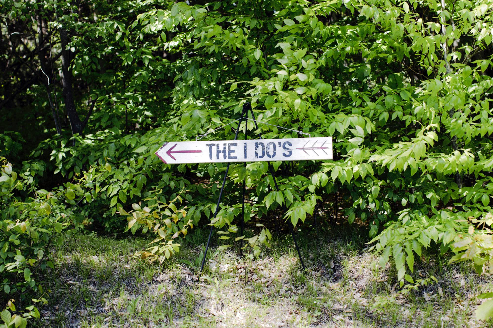 The I Do's Sign at Roxbury Barn Estate in the Catskills New York