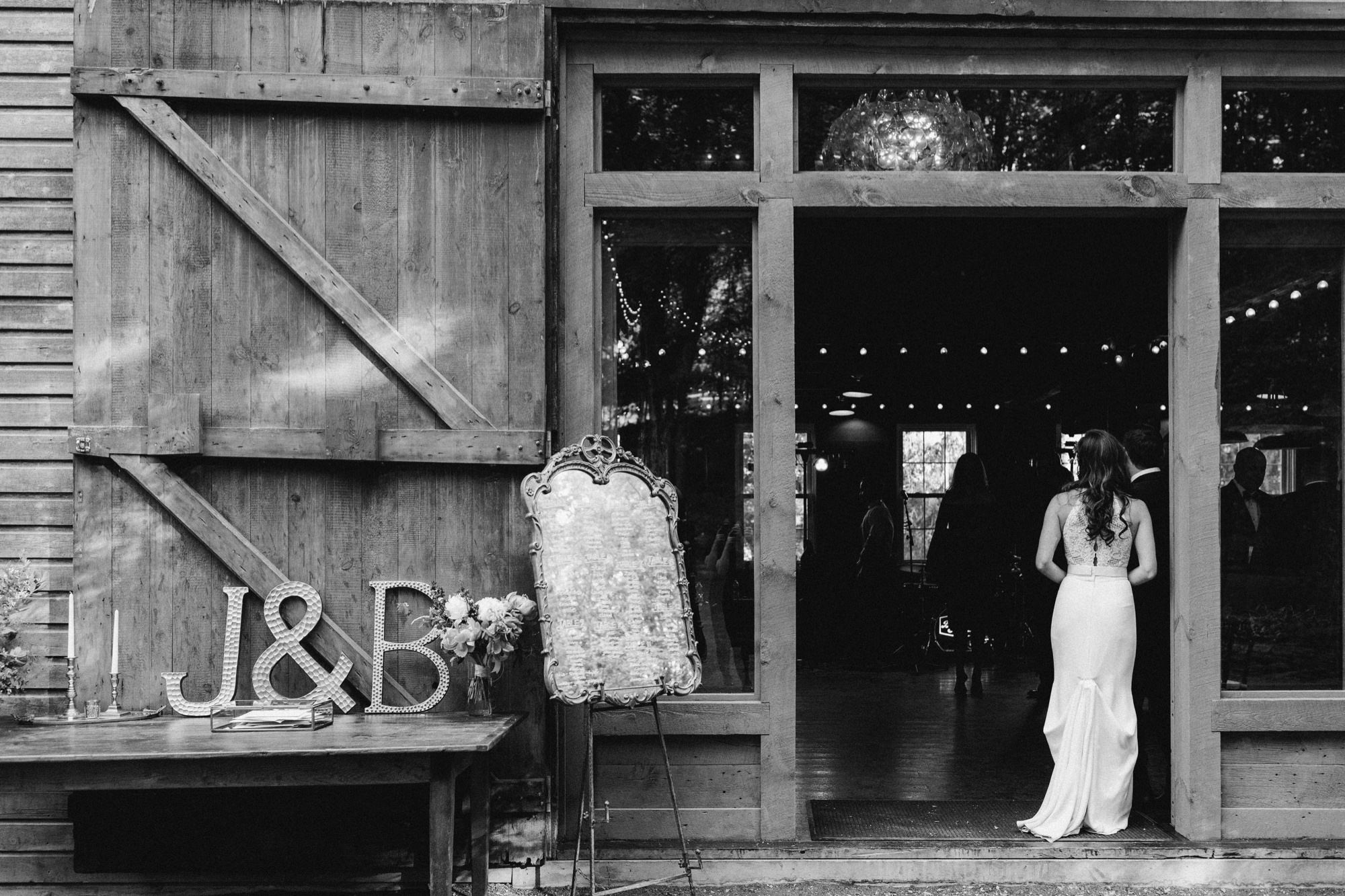 Reception at The Carriage Barn at Roxbury Barn Estate in the Catskills New York