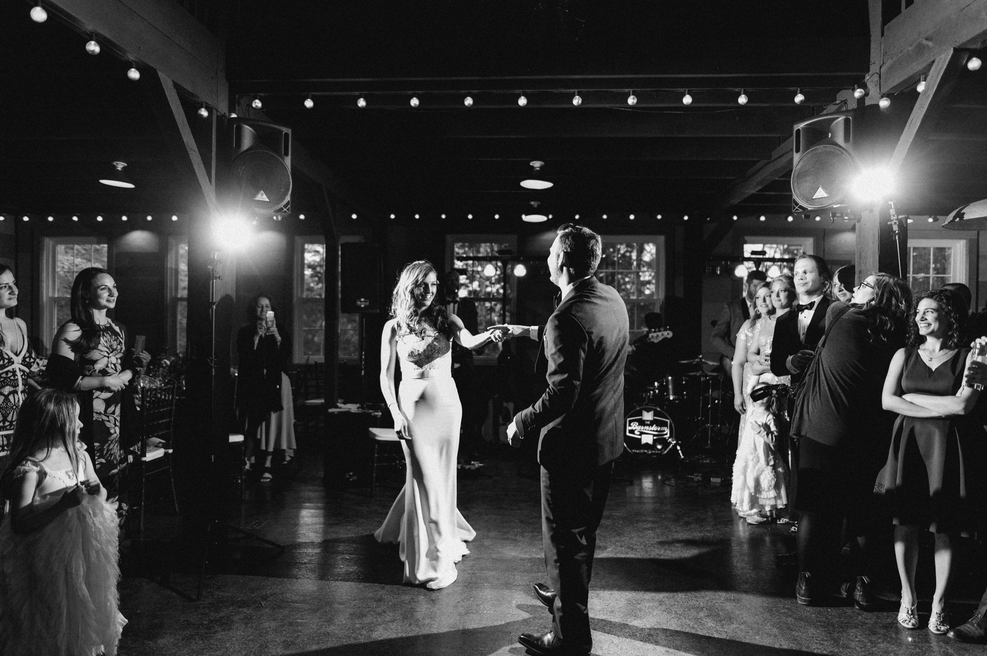 First dance in The Carriage Barn at Roxbury Barn Estate in the Catskills New York