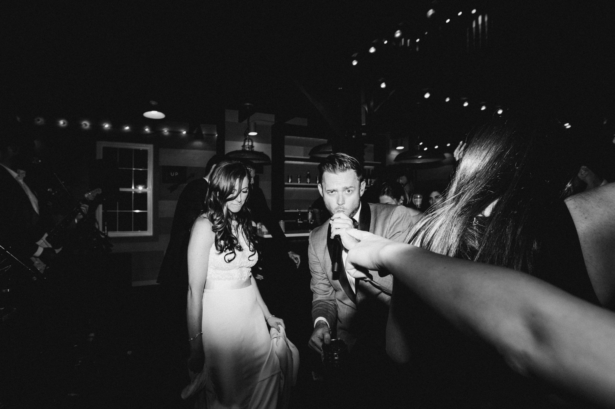 Dancing at First dance in The Carriage Barn at Roxbury Barn Estate in the Catskills New York